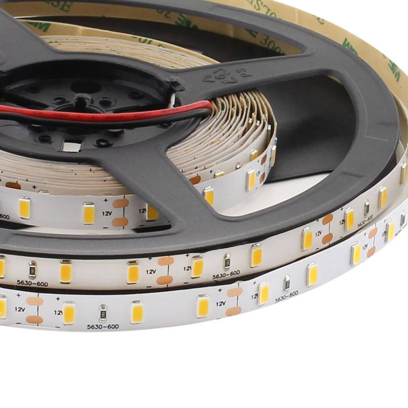Tira LED HQ SMD5630, ChipLed Samsung, DC24V, 5m (60Led/m) - IP68 nano waterpoof, Blanco cálido